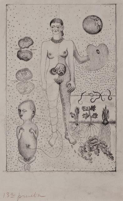 Frida Kahlo, Frida y el aborto, 1932, Litografía, Banco de México Diego Rivera